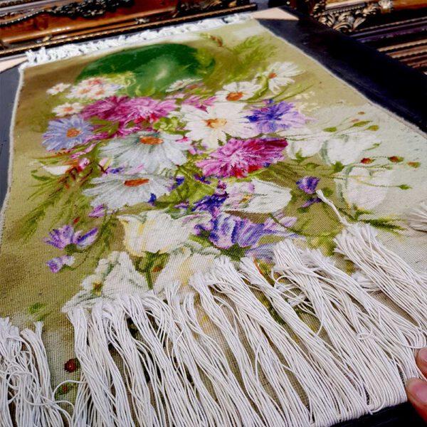 تابلو فرش گل طولی کد 1029